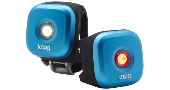 Knog Blinder Zestaw oświetlenia rowerowego dwupak 1 LED Standard niebieski
